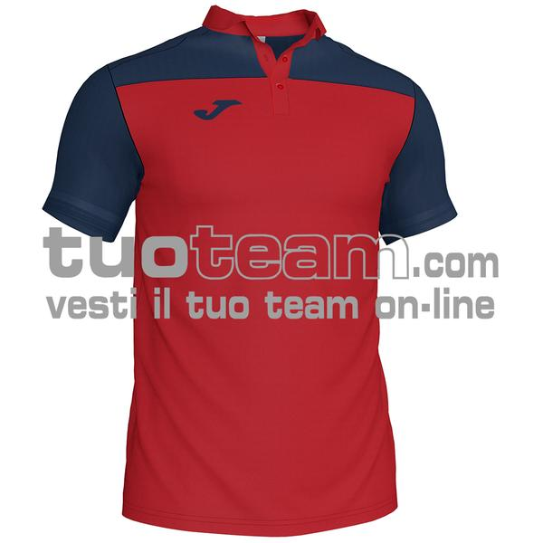 101371 - POLO HOBBY II 96% polyester 6% cotone - 603 ROSSO / DARK NAVY