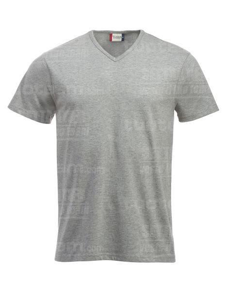 029331 - T-SHIRT Fashion-T V-neck - 95 grigio melange