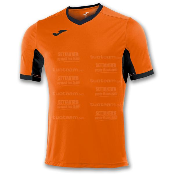 100683 - CHAMPION IV MAGLIA MC 100% polyester interlock - 801 ARANCIO/NERO