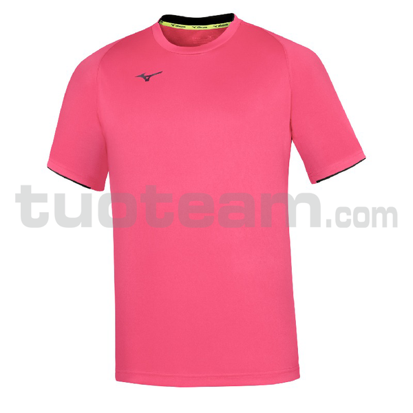 32EA7002 - Core Short Sleeve Tee - Pink Fluo/Navy