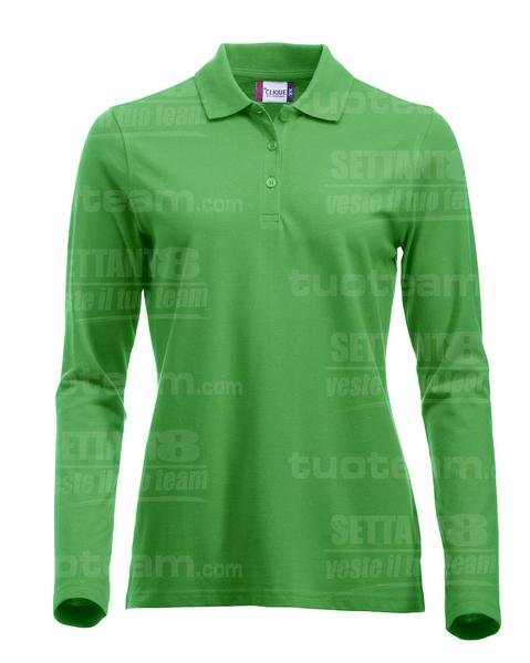 028247 - POLO New Classic Marion L/S - 605 verde acido