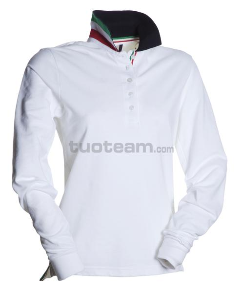 LONG-NATION LADY - POLO LONG-NATION LADY - BIANCO/ITALIA