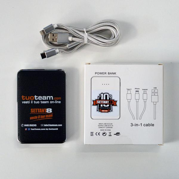 780032 - Power Bank + cavo 3in1 Tuoteam