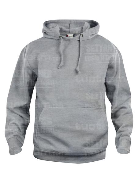021031 - FELPA Basic Hoody - 95 grigio melange