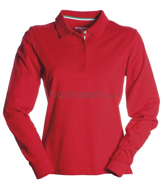 LONG-NATION LADY - POLO LONG-NATION LADY - ROSSO/ITALIA