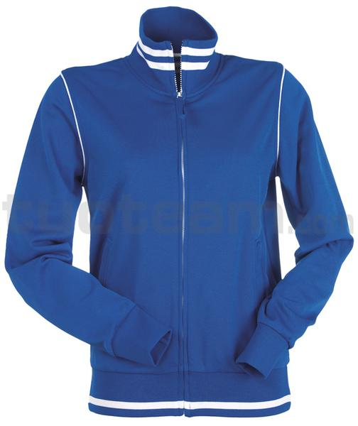 DERBY LADY - FELPA DERBY LADY - BLU ROYAL/BIANCO