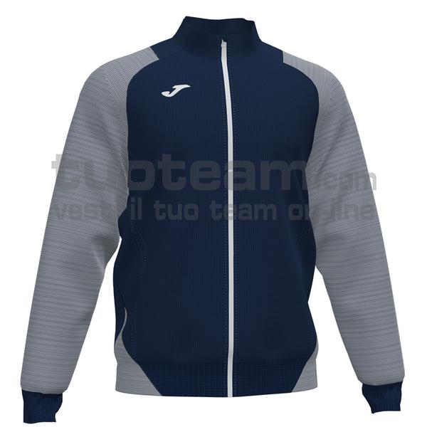 101535 - ESSENTIAL II FELPA FULL ZIP 100% polyester interlock - 332 DARK NAVY / BIANCO