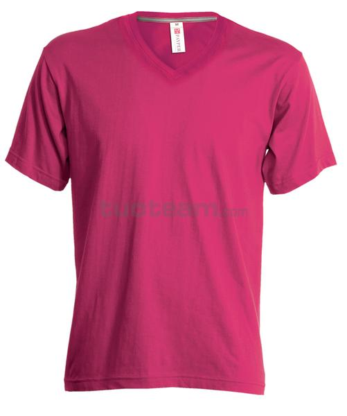 V-NECK LADY - T-SHIRT V-NECK LADY - FUXIA
