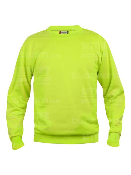 021030 - FELPA Basic Roundneck - 600 verde intenso