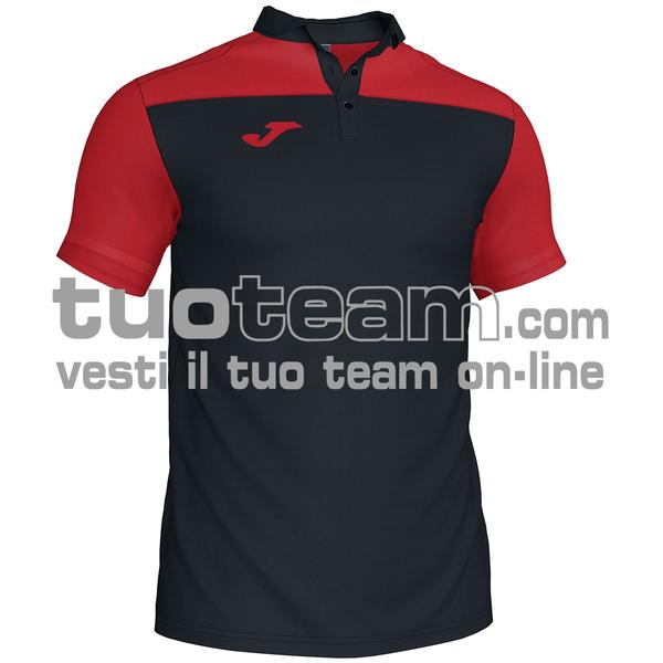 101371 - POLO HOBBY II 96% polyester 6% cotone - 106 NERO / ROSSO