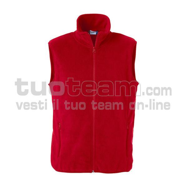 023902 - Basic Gilet pile - 35 rosso