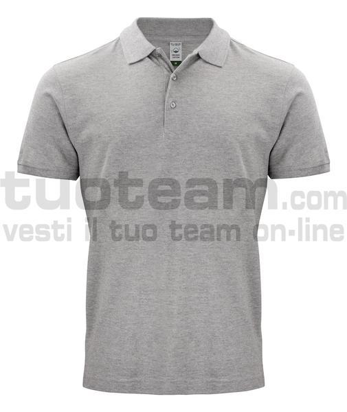 028264 - Organic Cotton Polo - 95 grigio melange