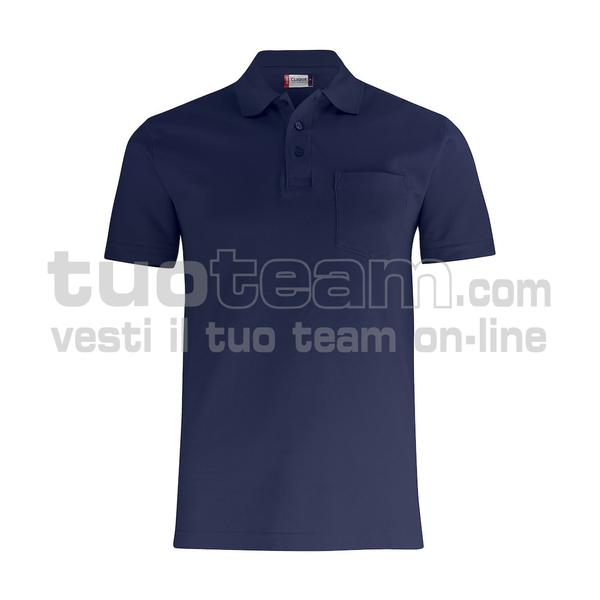 028255 - Basic Polo w. Pocket - 580 blu