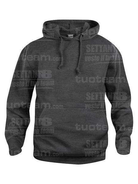 021031 - FELPA Basic Hoody - 955 antracite melange