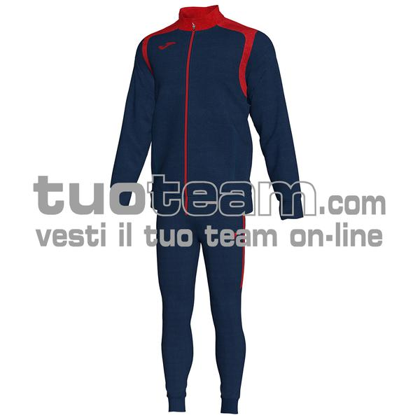 101267 - TUTA CHAMPION V 100% polyester interlock - 336 DARK NAVY / ROSSO