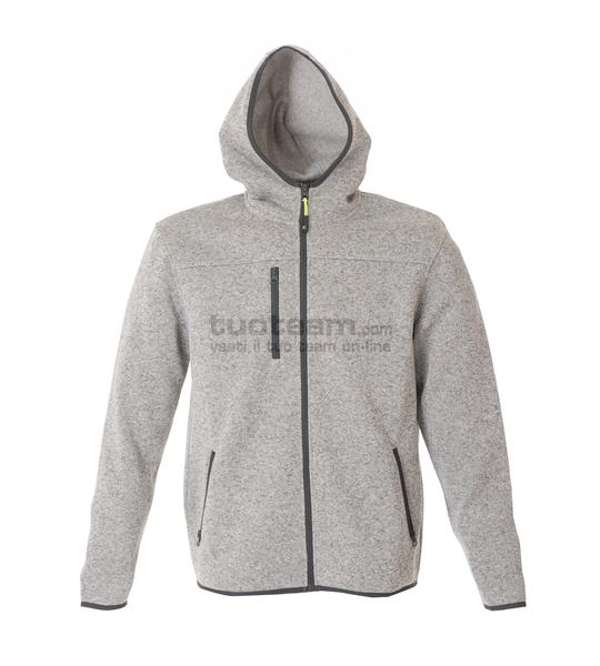 99175 - Knitted Fleece Quebec Man - LIGHT GREY