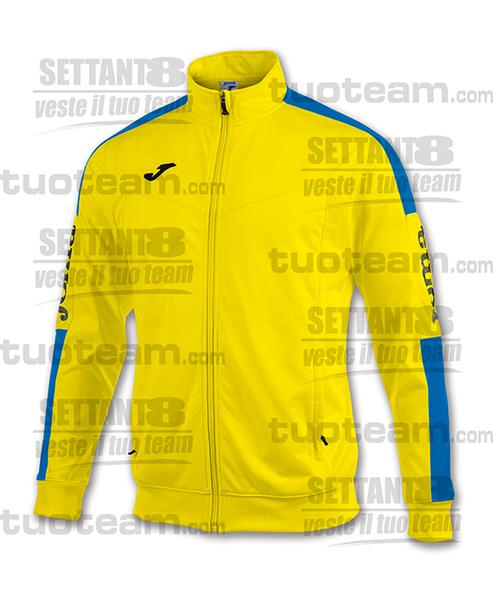 100687 - GIACCA CHAMPION IV ZIP LUNGA - GIALLO/BLU ROYAL/NERO