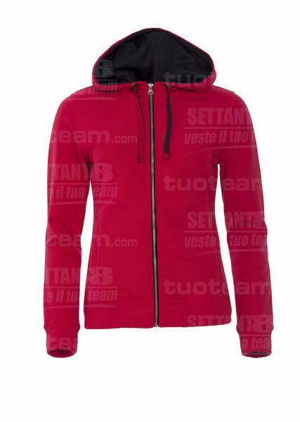 021045 - FELPA Classic Hoody Full Zip Ladies - 35 rosso