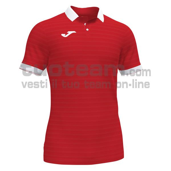 101473 - GOLD II MAGLIA MC 92% recycled polyester-8% spandex - 602 ROSSO / BIANCO