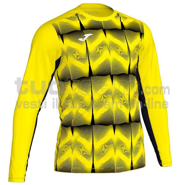 101301 - MAGLIA ML PORTERO DERBY IV 100% polyester interlock sublimato - 061 GIALLO FLUO/NERO