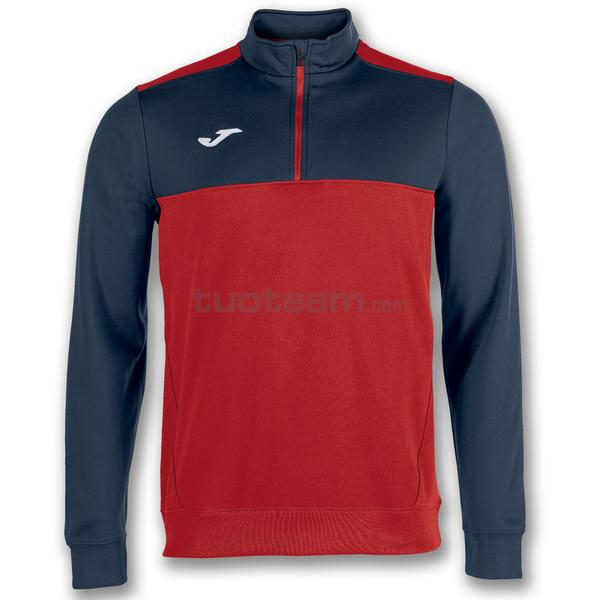 100947 - WINNER FELPA WINNER 1/2 ZIP POLYFLEECE - 603 ROSSO / DARK NAVY