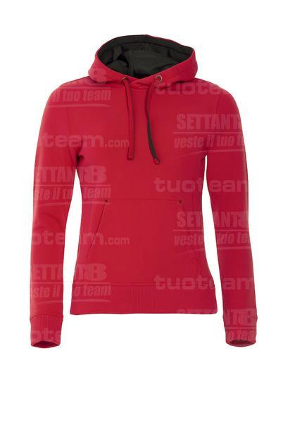 021042 - FELPA Classic Hoody Ladies - 35 rosso