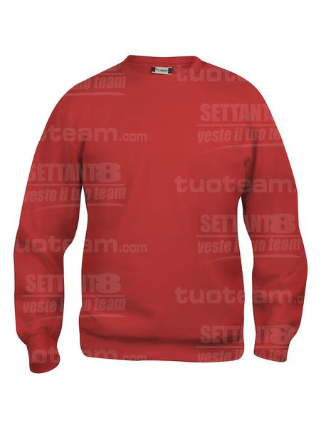 021030 - FELPA Basic Roundneck - 35 rosso