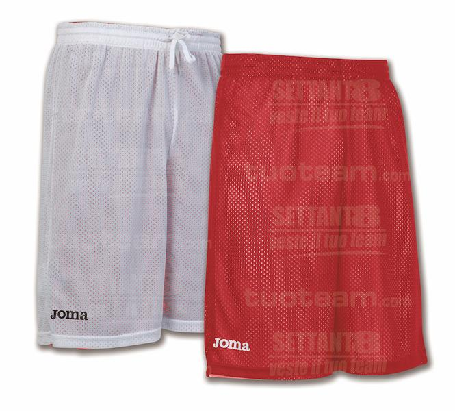 100529 - ROOKIE SHORT DOUBLE 100% polyester mesh - 600 ROSSO/BIANCO