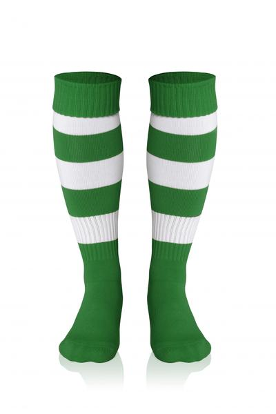 0022281 - CALZA DOUBLE STRIPED - VERDE / BIANCO
