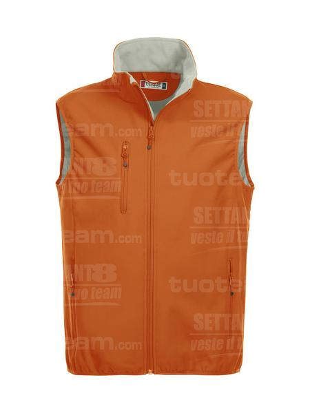 020911 - GILET Basic Softshell Vest Men - 18 arancione