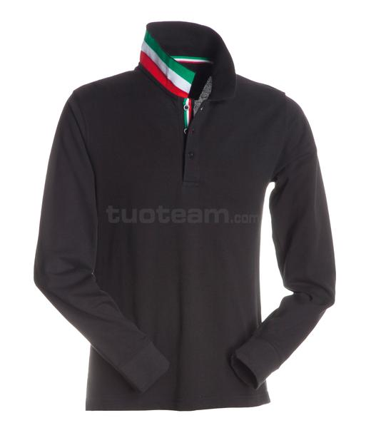 LONG-NATION - POLO LONG-NATION - NERO/ITALIA