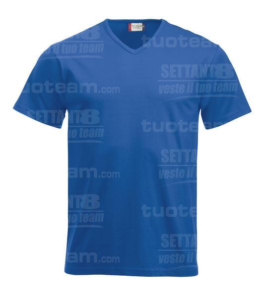 029331 - T-SHIRT Fashion-T V-neck - 55 royal