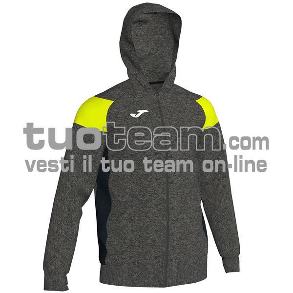 101271 - CREW III FELPA FULL ZIP 100% polyester fleece - 159 MELANGE / GIALLO FLUO