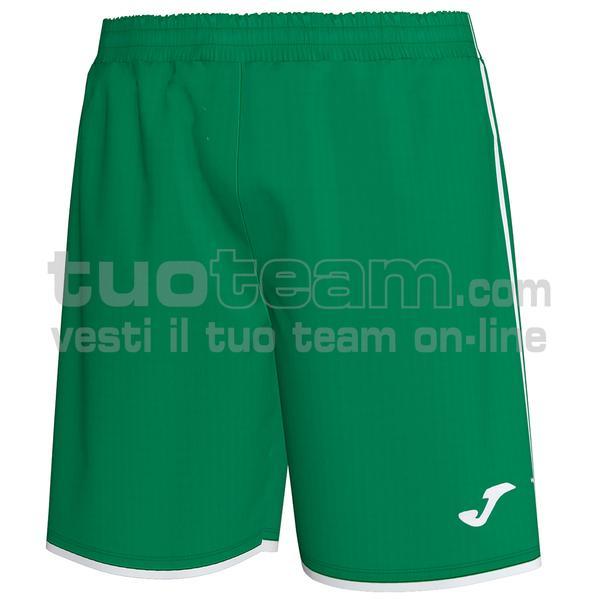 101324 - LIGA SHORT 100% polyester interlock - 452 VERDE / BIANCO