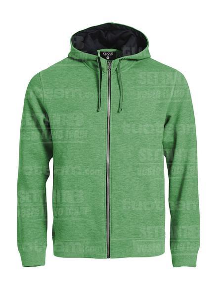 021044 - FELPA Classic Hoody Full Zip - 676 Verde Melange