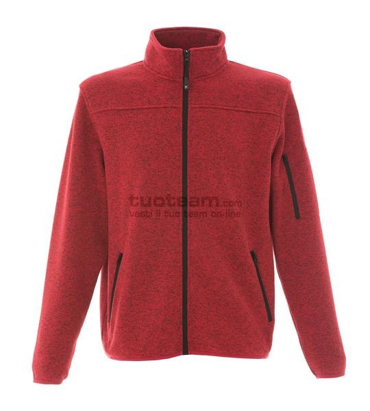 99208 - Knitted Fleece Manchester - ROSSO