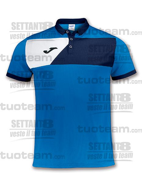 100679 - POLO CREW M/C - BLU ROYAL/BLU NAVY/BIANCO