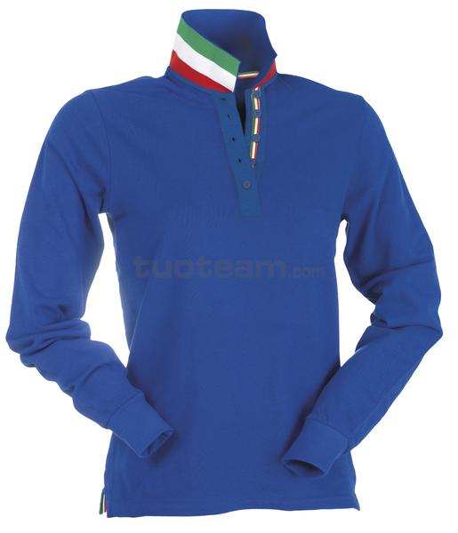 LONG-NATION LADY - POLO LONG-NATION LADY - BLU ROYAL/ITALIA