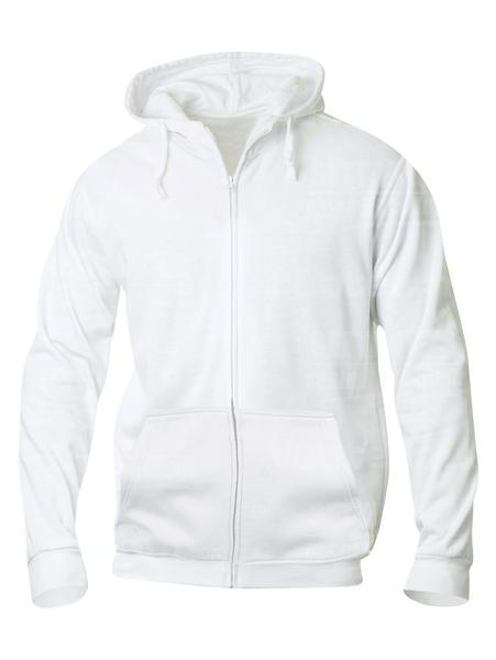 021034 - FELPA Basic Hoody Full zip Men's - 00 bianco