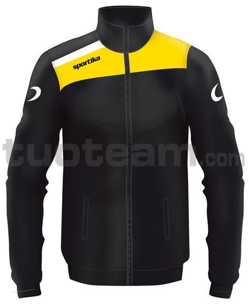 7245 - giacca NEST - NERO / GIALLO / BIANCO