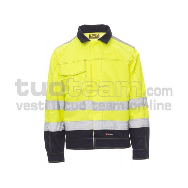 SAFE HI-VI - SAFE HI-VI TWILL 245/250GR - GIALLO FLUO/BLU NAVY