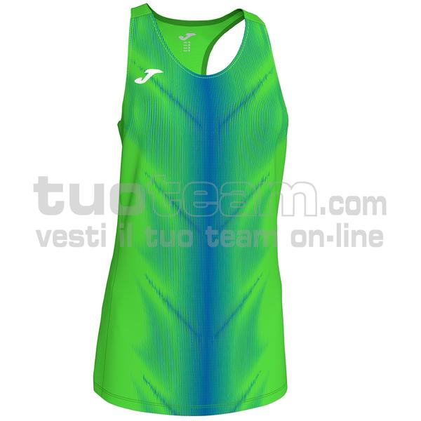900932 - OLIMPIA WOMAN CANOTTA 95% polyester 5% elastane - 027 VERDE FLUO/ROYAL