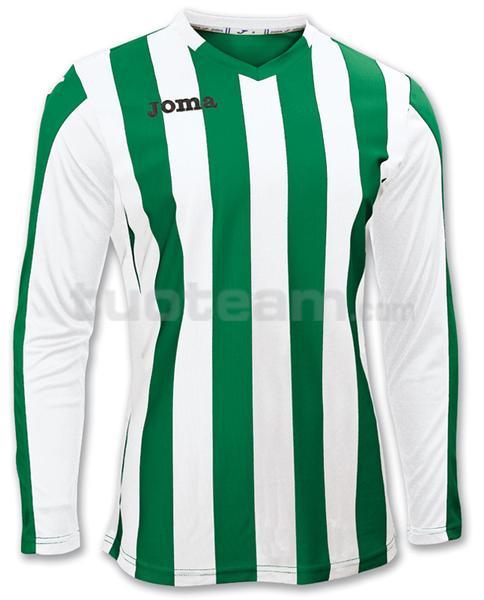 100002 - COPA MAGLIA ML 100% polyester tinto filo - 450 VERDE/BIANCO