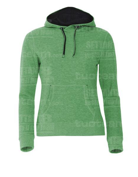 021042 - FELPA Classic Hoody Ladies - 676 Verde Melange