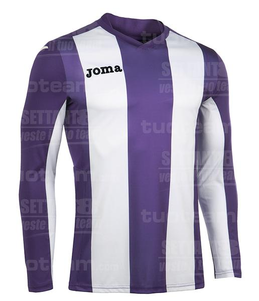 100404 - PISA MAGLIA ML 100% polyester interlock sublimato - 550 VIOLA/BIANCO
