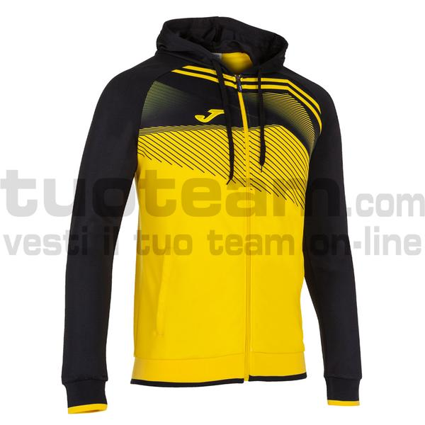 101605 - SUPERNOVA II FELPA FULL ZIP CAPPUCCIO 100% polyester interlock - 901 GIALLO / NERO