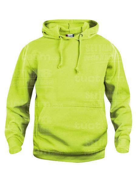 021031 - FELPA Basic Hoody - 600 verde intenso