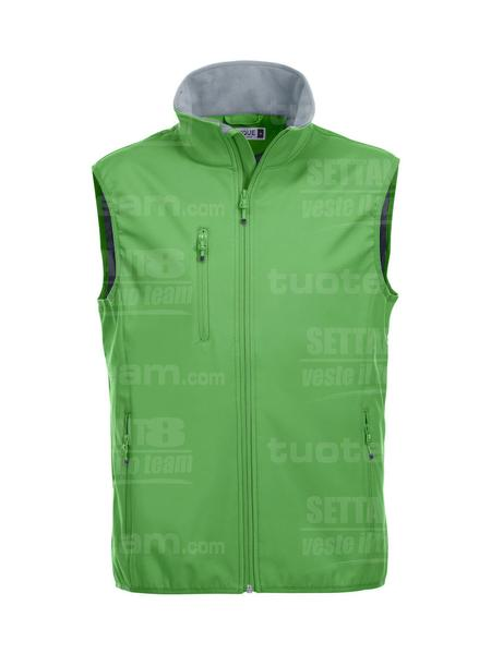 020911 - GILET Basic Softshell Vest Men - 605 verde acido