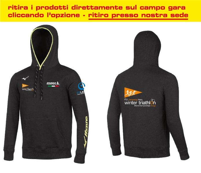 BD1800053 - Felpa Nera Uomo World Championship Winter Triathlon