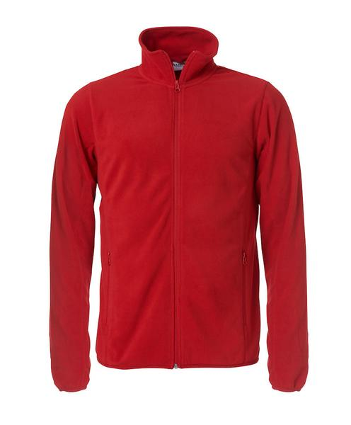 023914 - BASIC MICRO FLEECE JACKET - Giacca in micropile - 0035 bianco/rosso